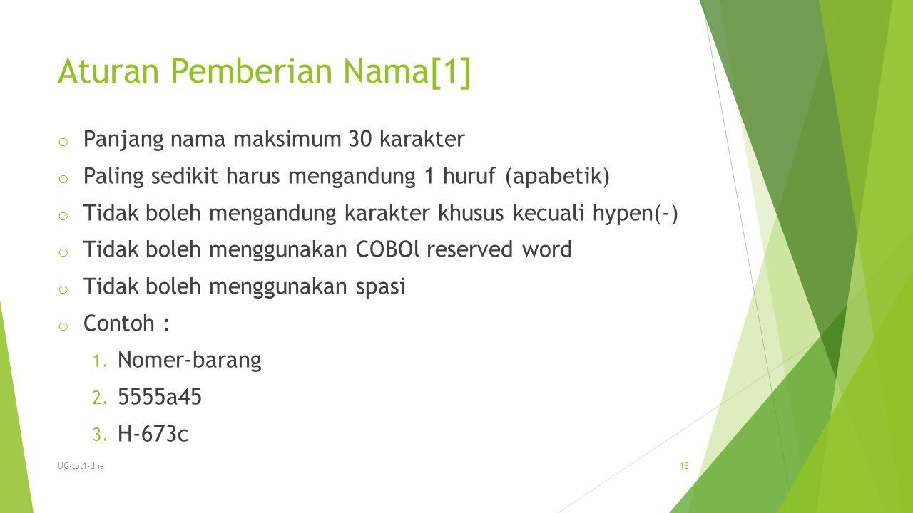 Aturan Pemberian Nama[1]